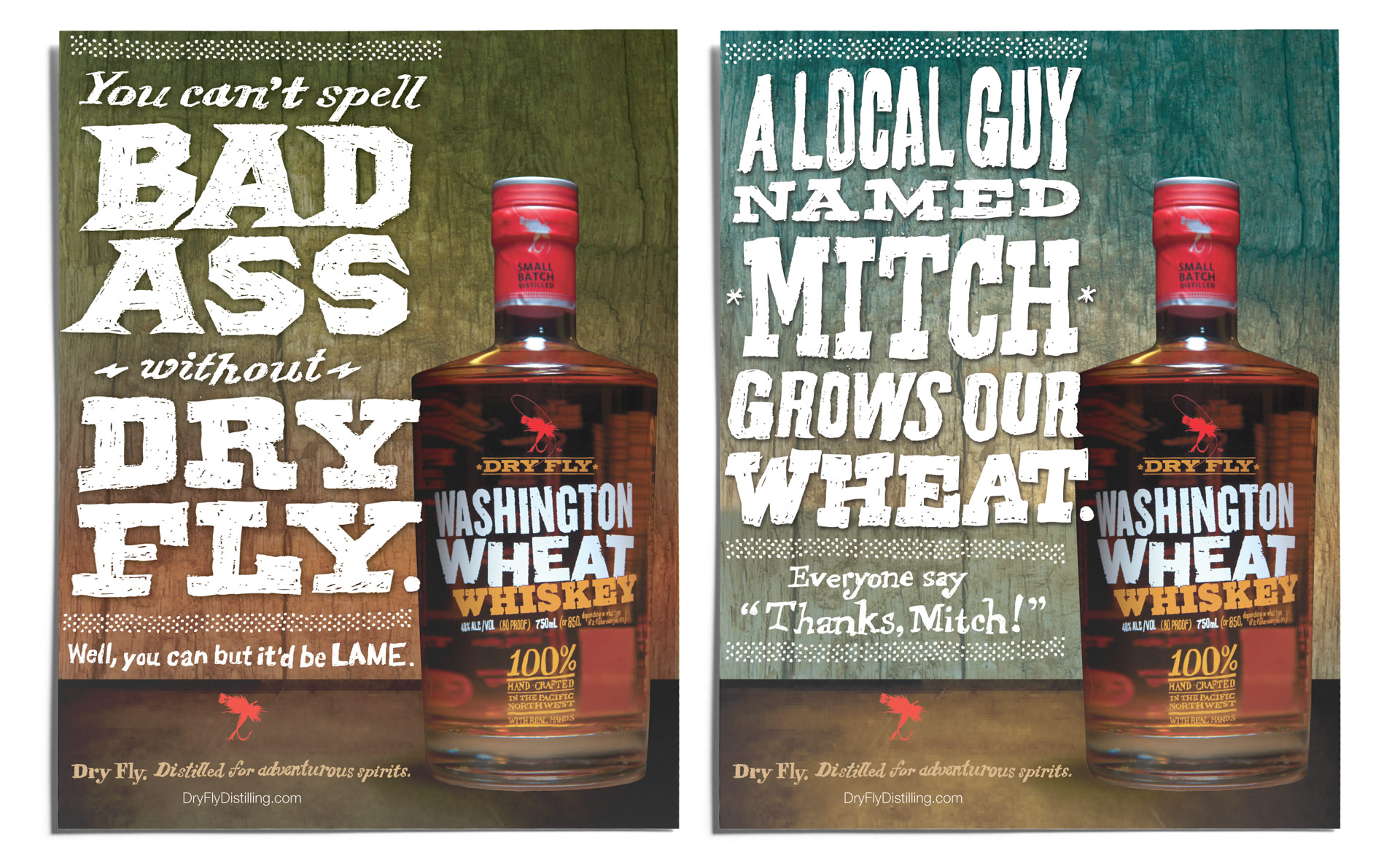 Dry Fly Distillery Ads