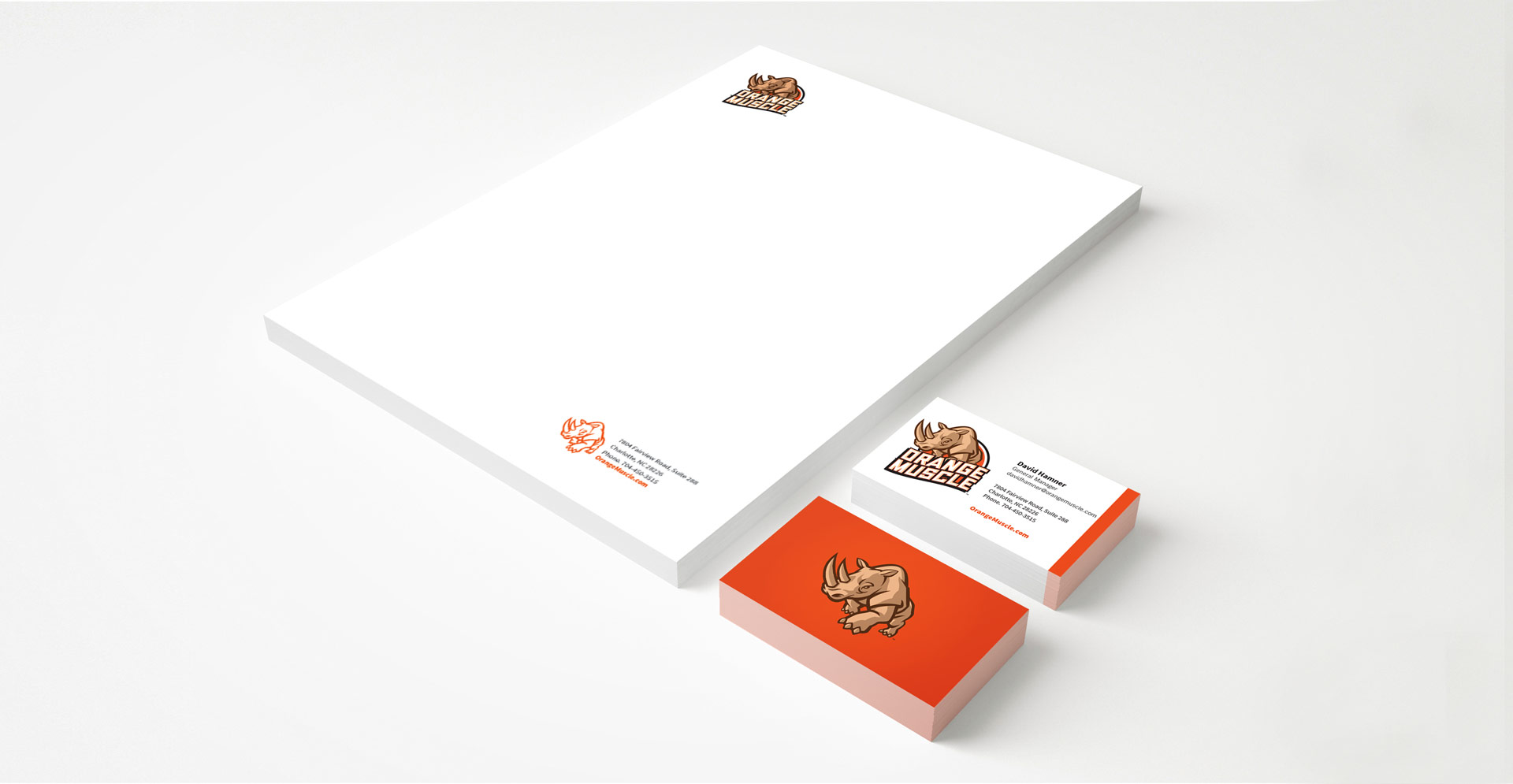 Orange Muscle Stationery