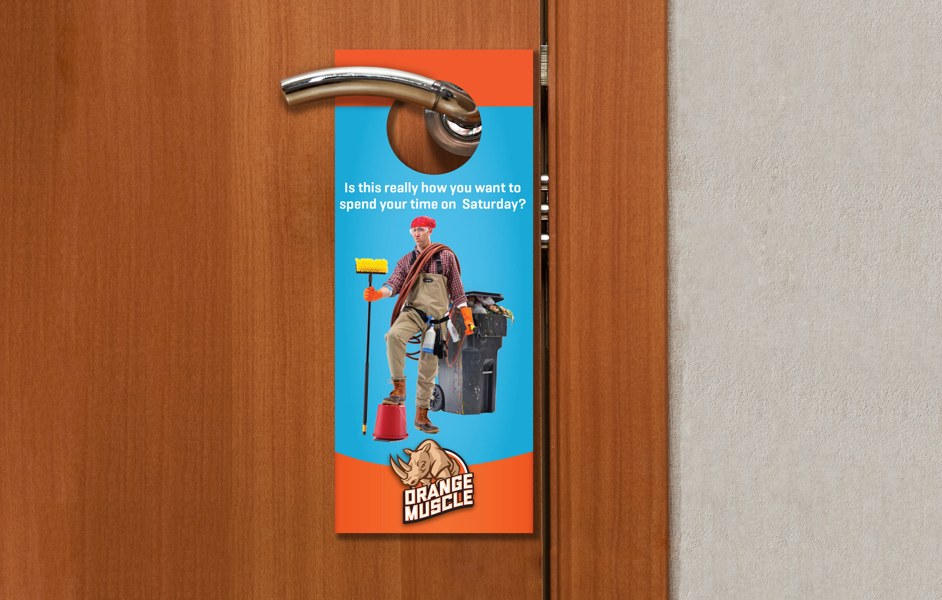Orange Muscle Door Hanger