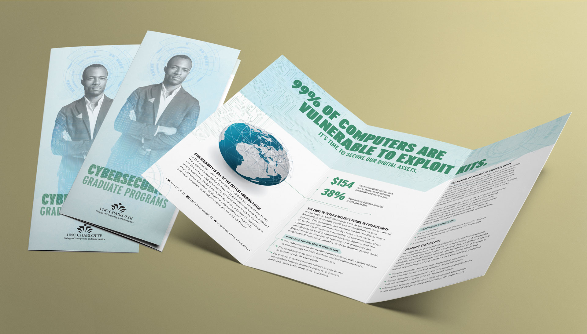 UNC Charlotte Cybersecurity Program Trifold Brochure