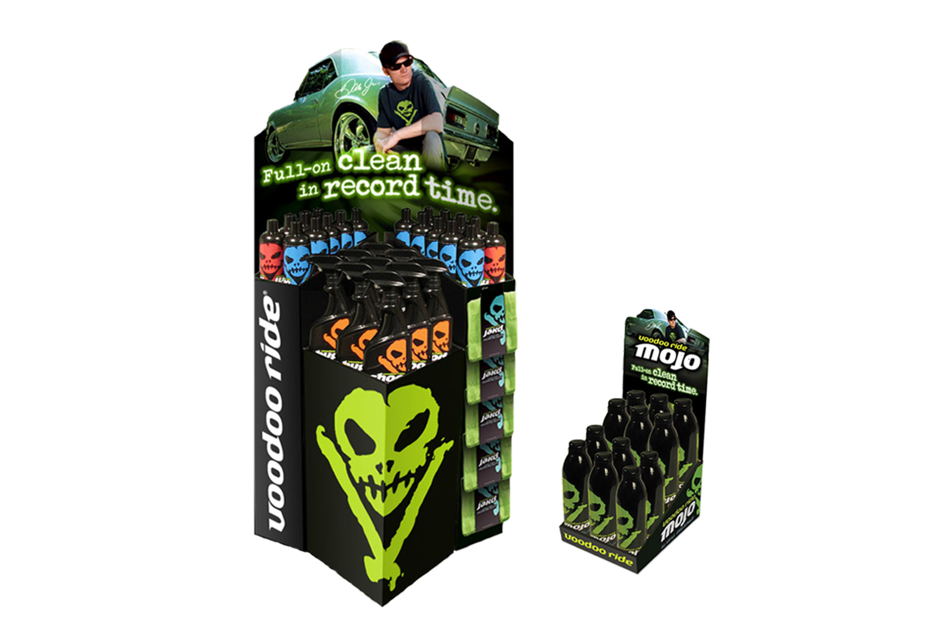 VooDoo Ride Product Displays