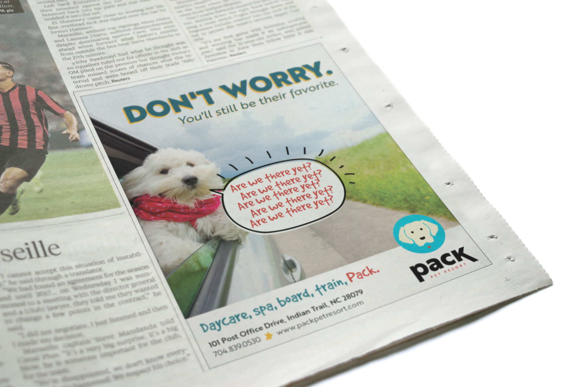 Pack Pet Resort Print Ad