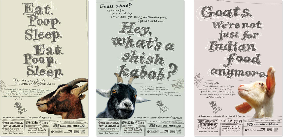 Boats for Goats Posters