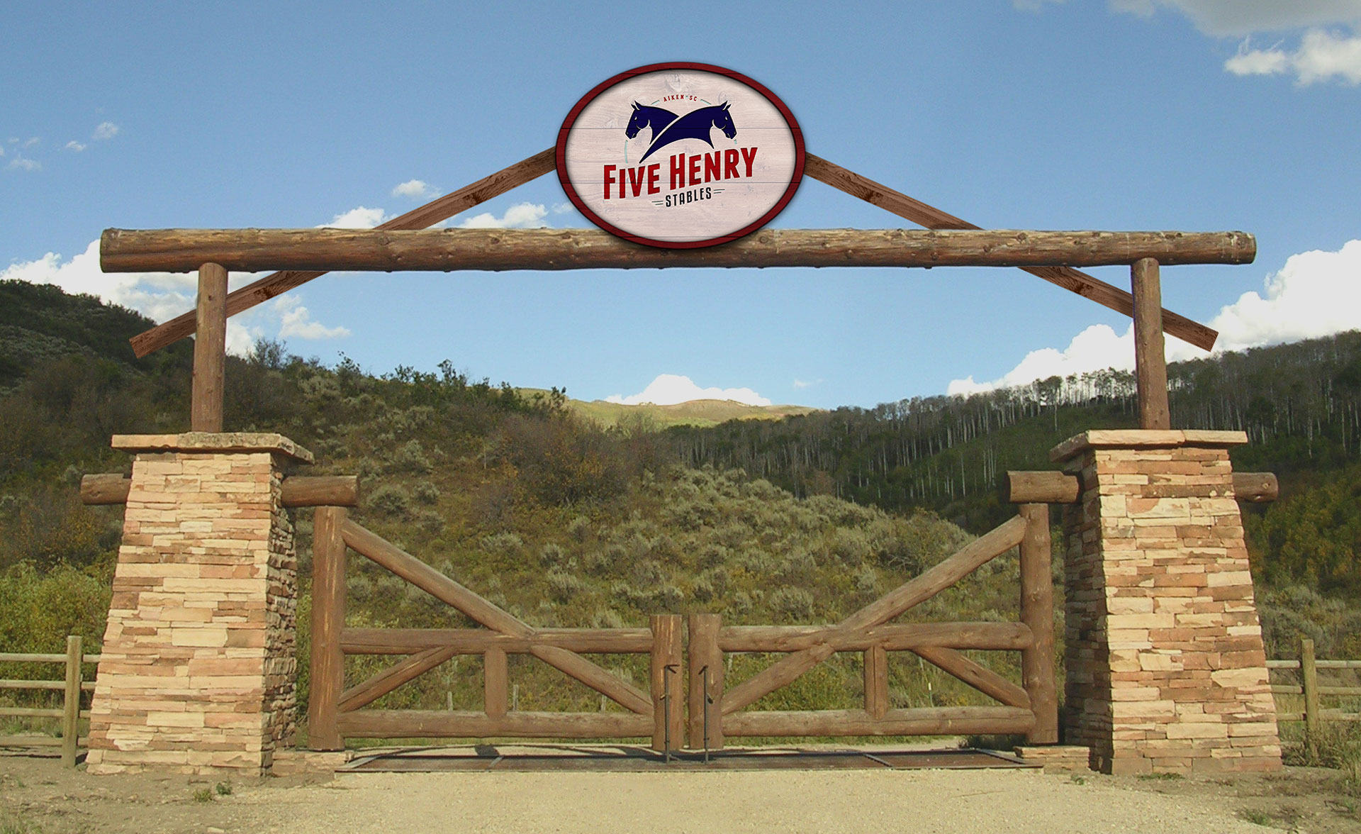 Five Henry Stables Entrance Sign
