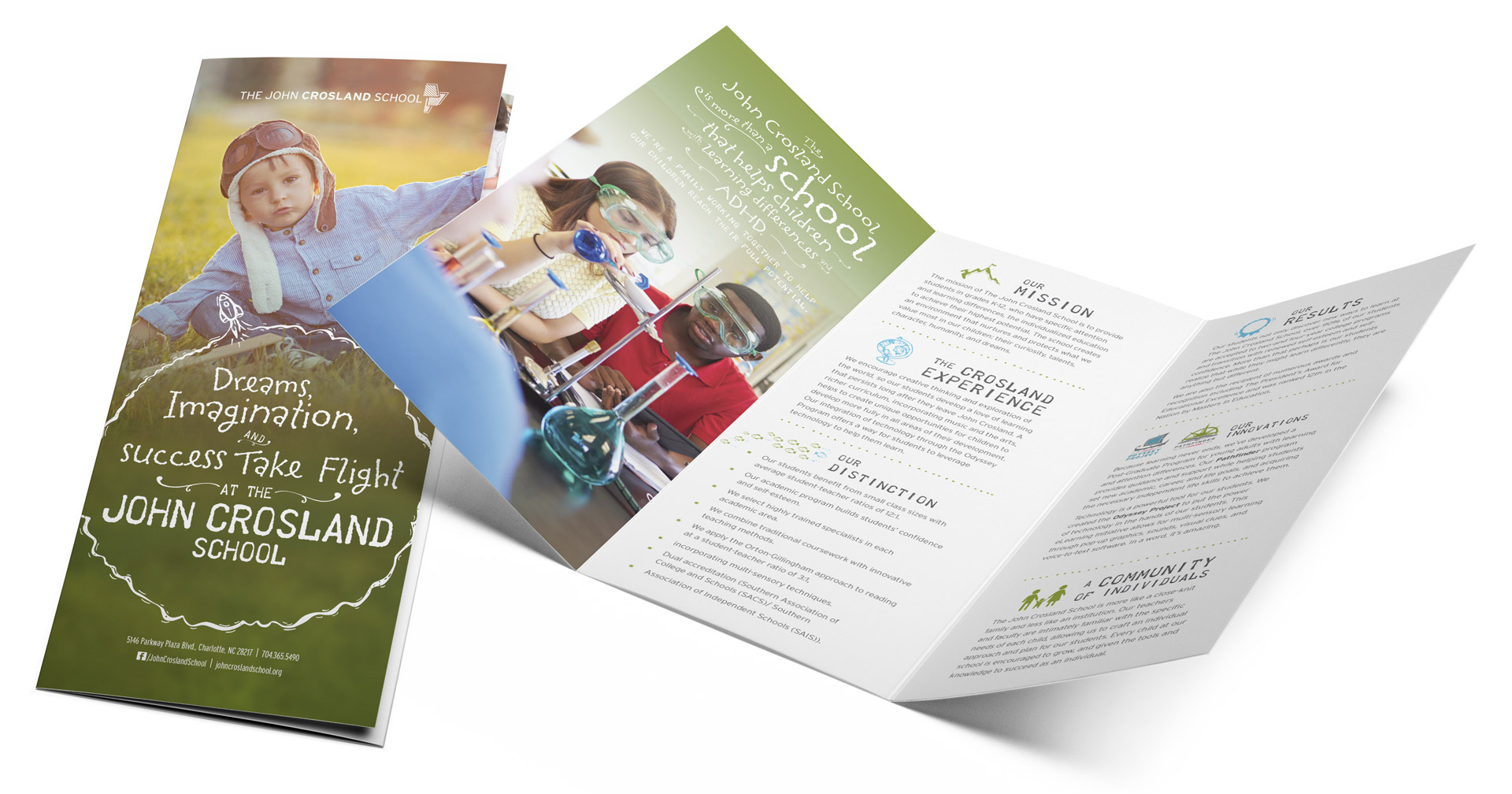 The John Crosland School Trifold Brochure
